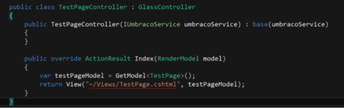 Test Page Controller